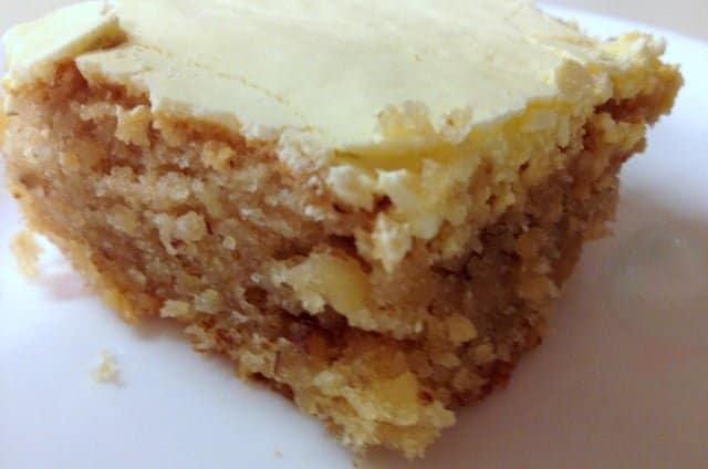 Walnut Cake with Egg Yolk Glaze