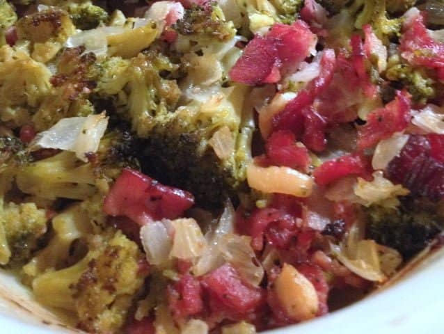 Roasted Broccoli with Turkey Bacon