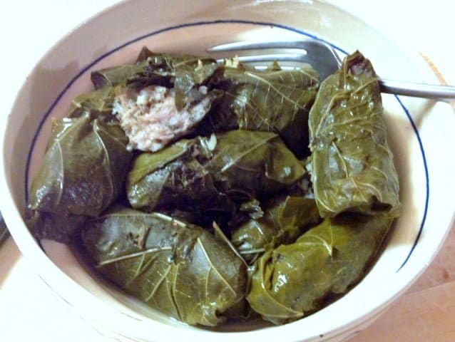 Romanian Stuffed Grape Leaves