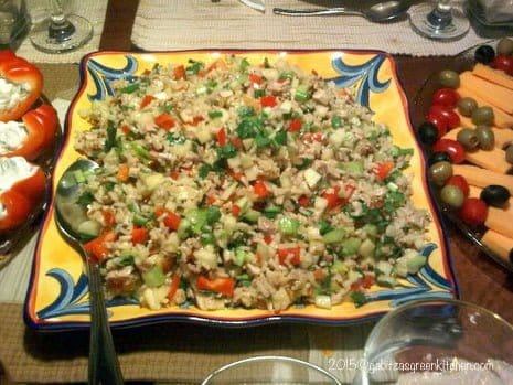 Brown Rice Salad with Chicken, Apples and Walnuts