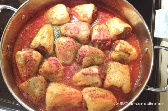 Romanian Stuffed Peppers with Pork