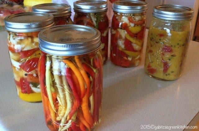 Hot Peppers in Vinegar