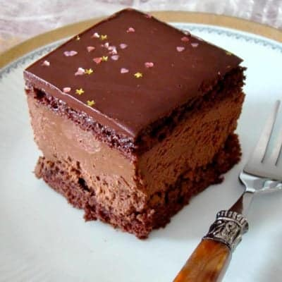 Prajitura Mocha Cu Ganache De Ciocolata Si Rom- Rigo Jancsi