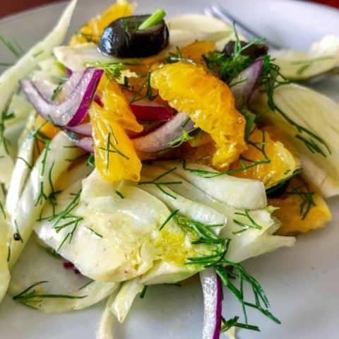 Salata de Fenicul Cu Portocale-Reteta Spaniola