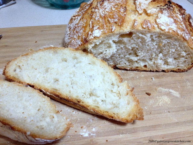 No Knead Bread Paine fara framantare2