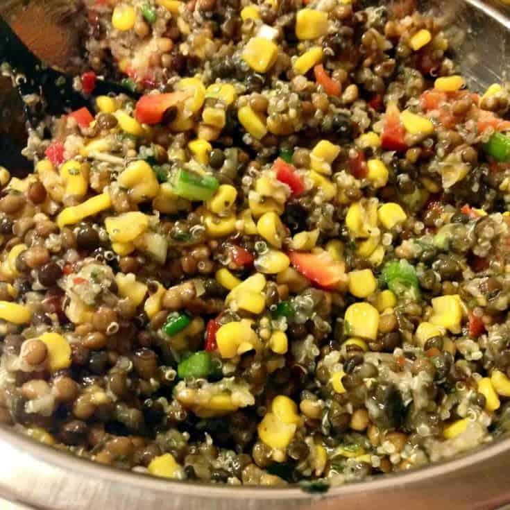 Salata De Linte Cu Porumb Si Quinoa