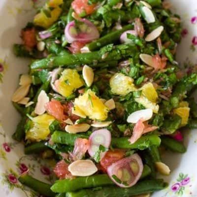 Salata de fasole verde cu citrice si migdale11